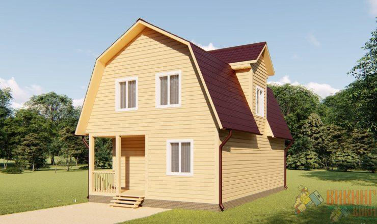 Каркасный дом с мансардным этажом 6х9