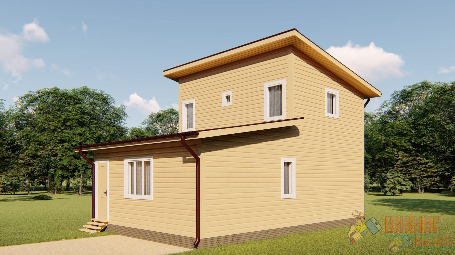 Каркасный дом-баня 6х9