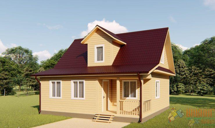 Каркасный дом с мансардным этажом 8х8