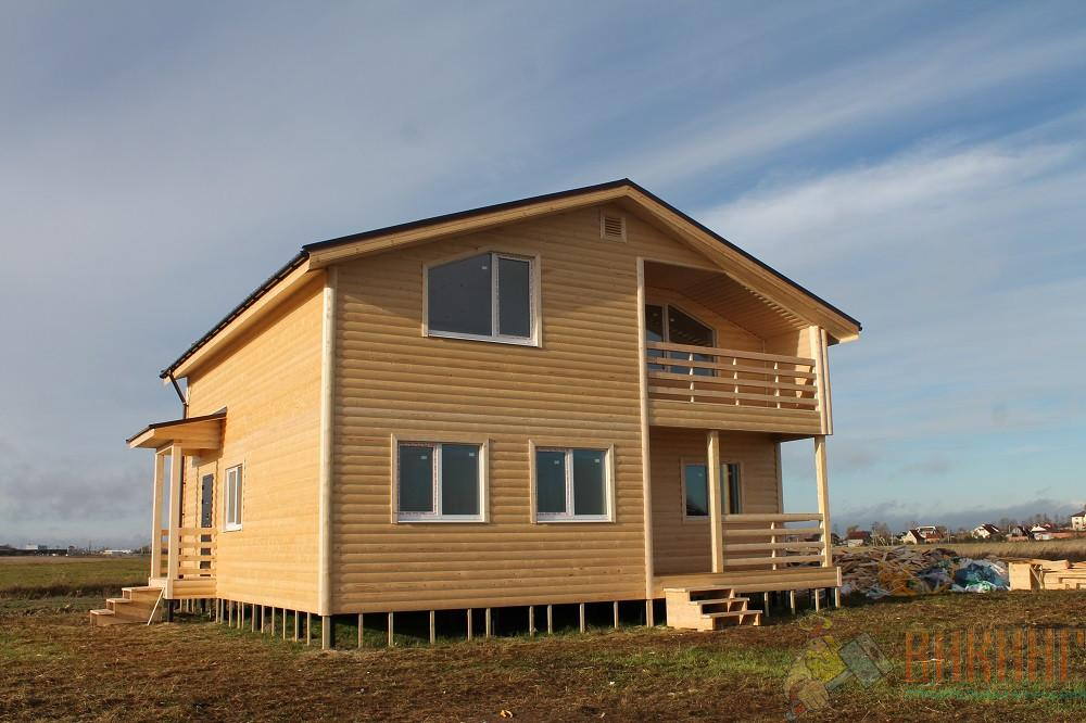 Каркасный дом полтора этажа 10х10