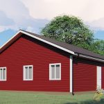 Каркасный одноэтажный дом 10х10 «Красницы»