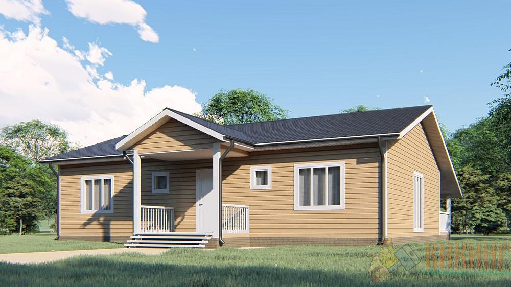 Каркасный одноэтажный дом 9x13