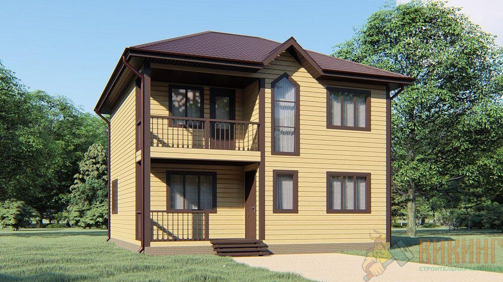 Каркасный дом 8х8 2 этажа «Портосики-2»