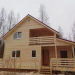 Каркасный дом полтора этажа 8х9 Массив «БЛУДНОЕ»