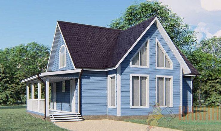 Каркасный дом с мансардным этажом 9,5х11,5 «Лукаши»