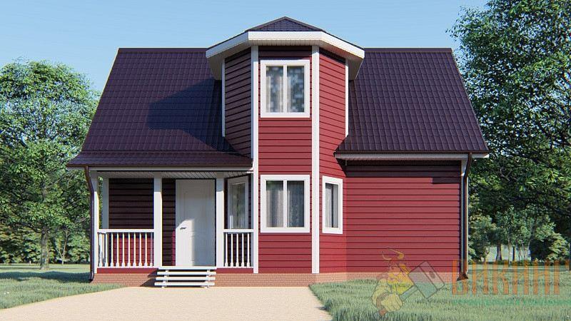 Каркасный дом с мансардным этажом 7х9 «Лесной кордон»