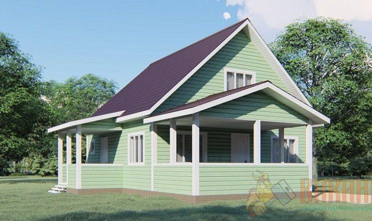 Каркасный дом с мансардным этажом 8х8 «Старая буря»