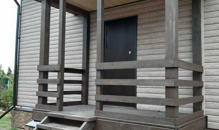Каркасный дом полтора этажа 7х8 СНТ «Лаврики» - Портфолио