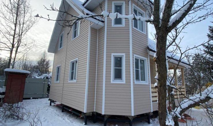 Каркасный дом в полтора этажа 7,5*8